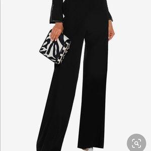 • Chanel • Wide Leg Wool Black Pants 40 / US 8